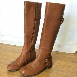 Nine West Vasookie Leather Riding Boots 6m